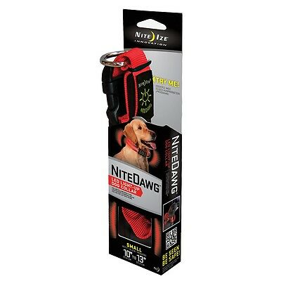 Nite Ize Nite Dawg LED Collar Red Small 10 to 13 inches