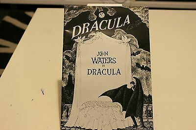 """""""Dracula"""" theatre program from 1978 with John Waters"""