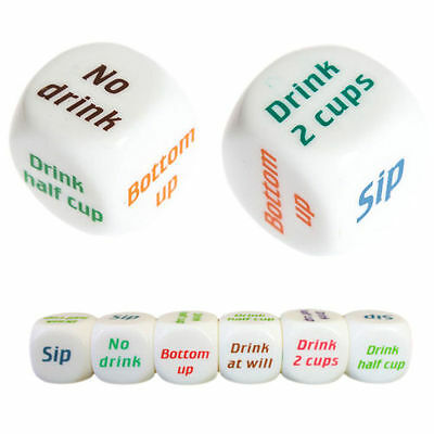 1pc Funny Party Drink Decider Dice Games Pub Bar Die Toy Drinking Props Gift CA