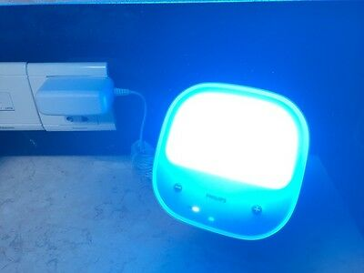 Used Good Philips HF3431 goLITE Blue Light,with Battery and Power Supply Adapter