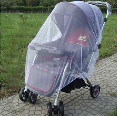 pushchair mosquito net netting  curtain carriage cart cover insect care Uk