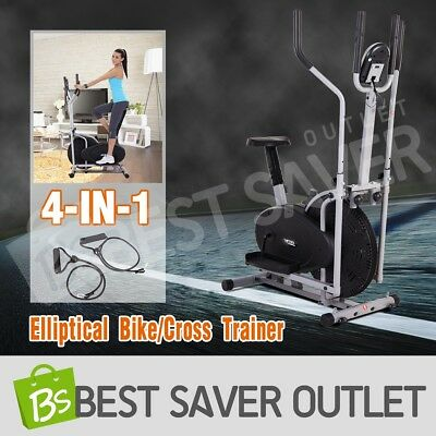 4 in 1 Resistance Elliptical Cross Trainer Adjustable Fitness Exercise Bike