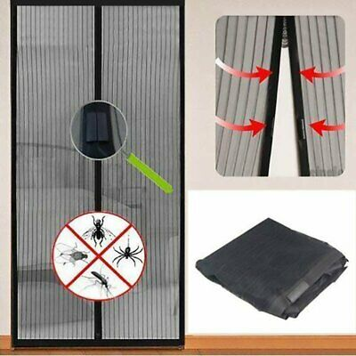Magnetic Flying Insect Door Window Curtain Magic Bug Mesh Screen Black/White New