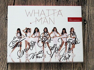 I.O.I IOI autographed 2016 WHATTA MAN  first album CD new korean version
