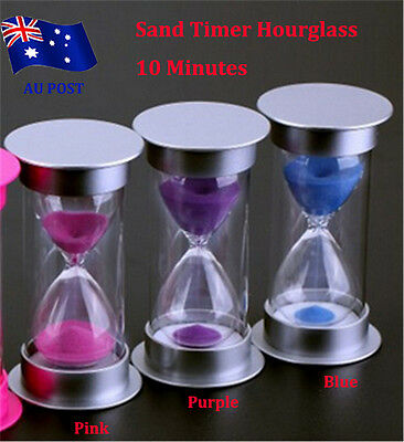 Sand Timer Hourglass Game Cooking Clock Egg Timer Sandglass 10 Minutes gift BO