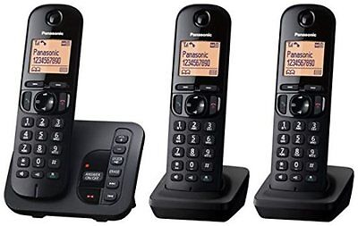 3 Set Cordless Phones Answering Machine Cordless Home Office Digital Call Block