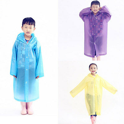 EVA Raincoat Kids Children Rain Coat Kids Rainwear Waterproof New