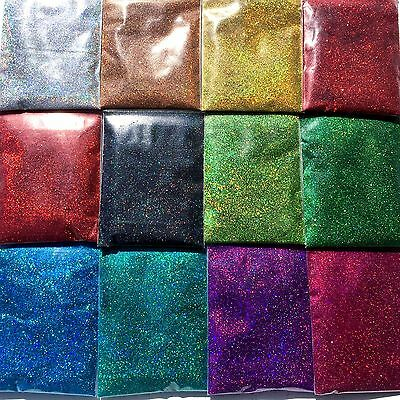 10g Fine Glitter Dust Powder Holographic Iridescent Metallic Body Nail Art Craft