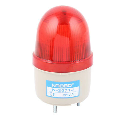 AC 220V Buzzer Sound Industrial Safety Lamp Signal Warning Flashing Light Red