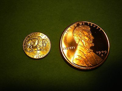 1909S Vdb Lincoln Wheat Cent Penny Bu 1Oz.copper Bullion Round Bonus 2005 Bison