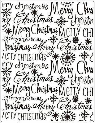 Crafts Too Embossing Folder Cardmaking Merry Christmas Words Sentiments Ctfd3112