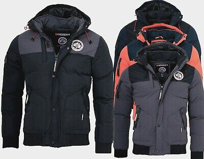 Geographical Norway Herren WinterJacke Vertigo Winter Parka warm gefüttert Jacke