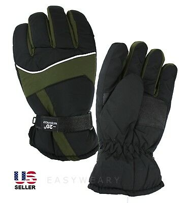Men Winter Snow Thermal Sport Waterproof Ski Snowboard Glove One Size