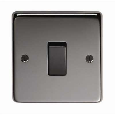 From the Anvil Single 20amp Switch - Black Nickel - 34205