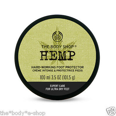 Body Shop ~ HEMP Heavy-Duty Foot Cream Protector 100ml ~ Soothes & Rehydrates