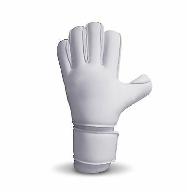 Goalkeeper Rollfinger White Gloves Size 6 7 8 9 10 11 Goalie Roll Finger Protect