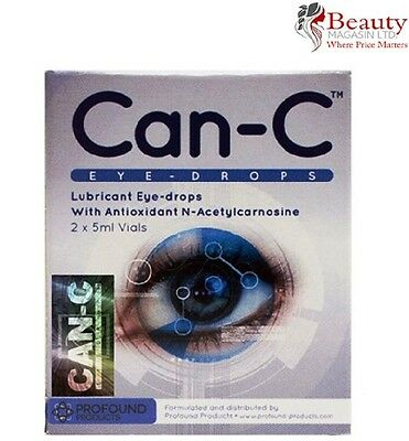 CAN-C Eye Drops for reducing, reversing and slowing cataracts 2 x 5ml Vials