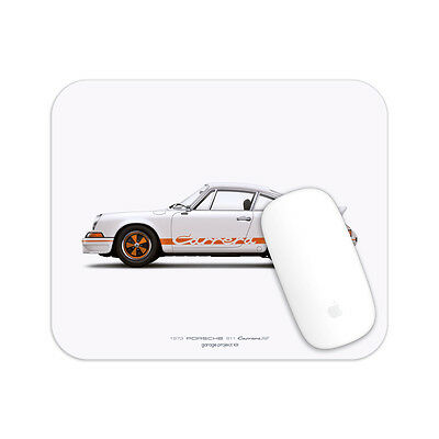 1972 Porsche 911 RS (White) illustration Mouse Pad