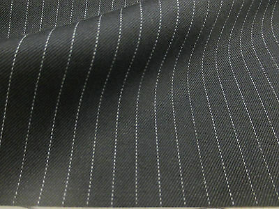 Dark Navy Striped English Wool Blend Suit,Suiting Fabric. PRICE PER METRE!