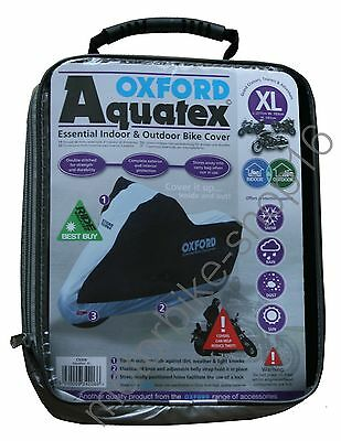 Oxford Aquatex Cover *DESIGN 2016*Out/Indoor Motorcycle Cover XL XLarge CV206