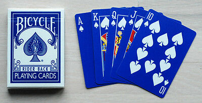 Bicycle Rider Back Blue Ice Playing cards Deck Red Seal