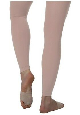 Womens Pink Bloch Endura Footless Tights - Size XS,S, M, L