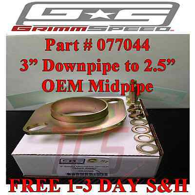 "GRIMMSPEED Exhaust Adapter Flange 3"" Downpipe to 2.5"" OEM Midpipe WRX & STi"