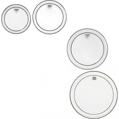 Remo Pinstripe Clear 4-piece Tom Drumhead Pack. Free Delivery