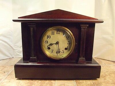Antique Waterbury 8 Day Time and Strike Mantle Clock *Classic Styling*