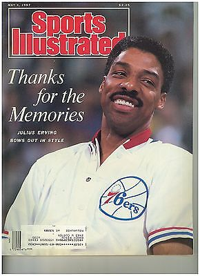 May 4 1987 issue of Sports Illustrated Julius Irving Retires Cover