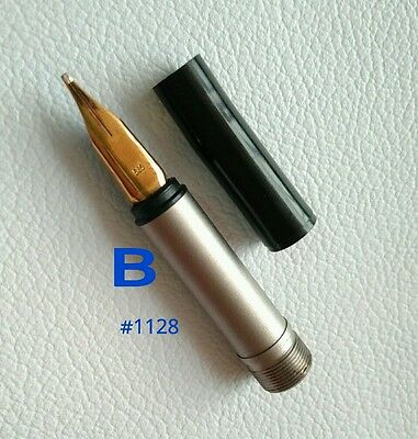 Montblanc Fountain Pen No.1128 Nib Size B Gold 585 Part Pen NOS #8
