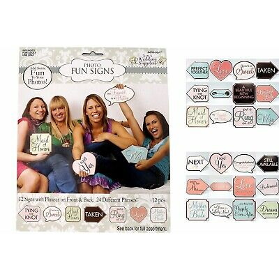 New Bridal Shower Hens Night Photo Booth Fun Signs Party Novelty Games Supplies