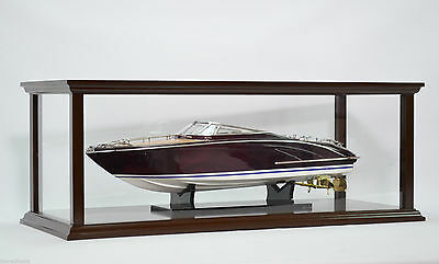 """Display Case for Model Boat 36"""" - Wooden display case for Ship and Boat Model"""