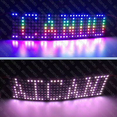 WS2812B WS2811 Flexible Digital LED Panel 5V arduino 8*32=256 Pixel LED Display