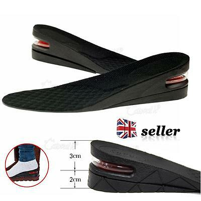 1 Pair Shoe Lift Height Increase Heel Lifts Insoles Taller Air Bubble Cushion