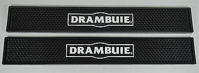 NEW Drambuie Liqueur Rubber Spill Rail Rubber Bar Mat Runner - PACK OF 2