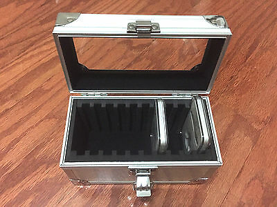 Aluminum Storage & Display Box Case Holds 10 PCGS NGC ANACS Coin Holders Slabs