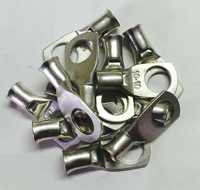 Uninsulated Eye / Ring Terminals 10mm2 Wire Gauge Various Ring Sizes To Choose