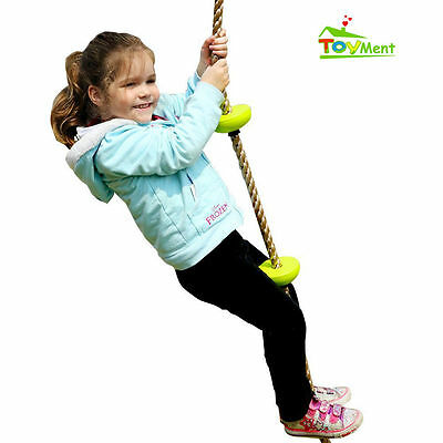 Toyment Outdoor Playground Five Knotted GYM Climbing Rope for Kids-GREEN
