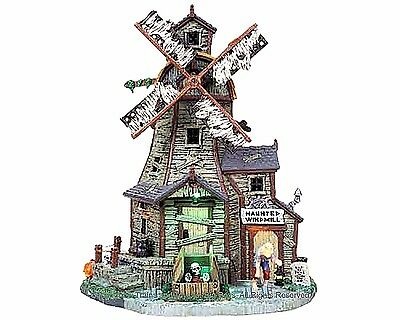 Lemax 85667 HAUNTED WINDMILL Spooky Town Building Animated Sights Sounds Decor I