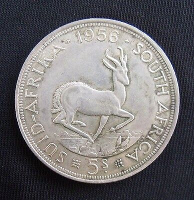 1956 South Africa 5 Shillings VF.. Silver Crown.....