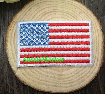 1 x american flag patch patches iron on sew on u.s.a. america u.s. stars stripes
