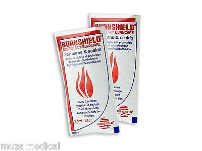 Burnshield Hydrogel Gel Burn 3.5ml Emergency Handy Sachet Scald Burns First Aid