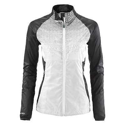 Kathmandu Lite Ace Pro Womens Windbreaker Reflective Active Running Jacket White