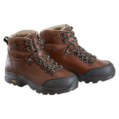 Kathmandu Tiber Mens NGX Waterproof Leather Hiking Walking Boots Brown