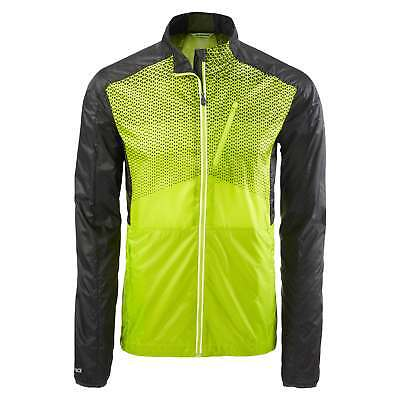 Kathmandu Lite Ace Pro Mens Active Windbreaker Reflective Running Jacket Green
