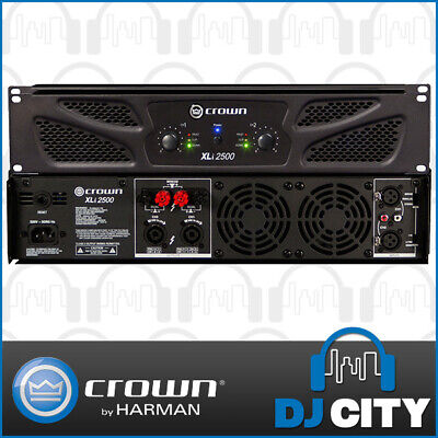 Crown XLI2500 PA Power Amplifier 1500W 2 Channel Pro Audio Amp