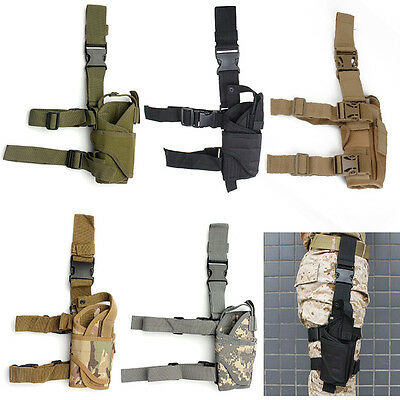 Adjustable Wrap-around Tactical Hunting Military Pistol Drop Leg Thigh Holster