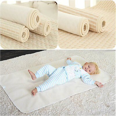 Natural Bamboo Fiber Baby Urine Mat Cover Cotton Absorbent Changing Pad Cover