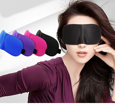 3D Comfortable Sleeping Eye Mask Shade Travel Sleep Aid Blindfold Cover Light